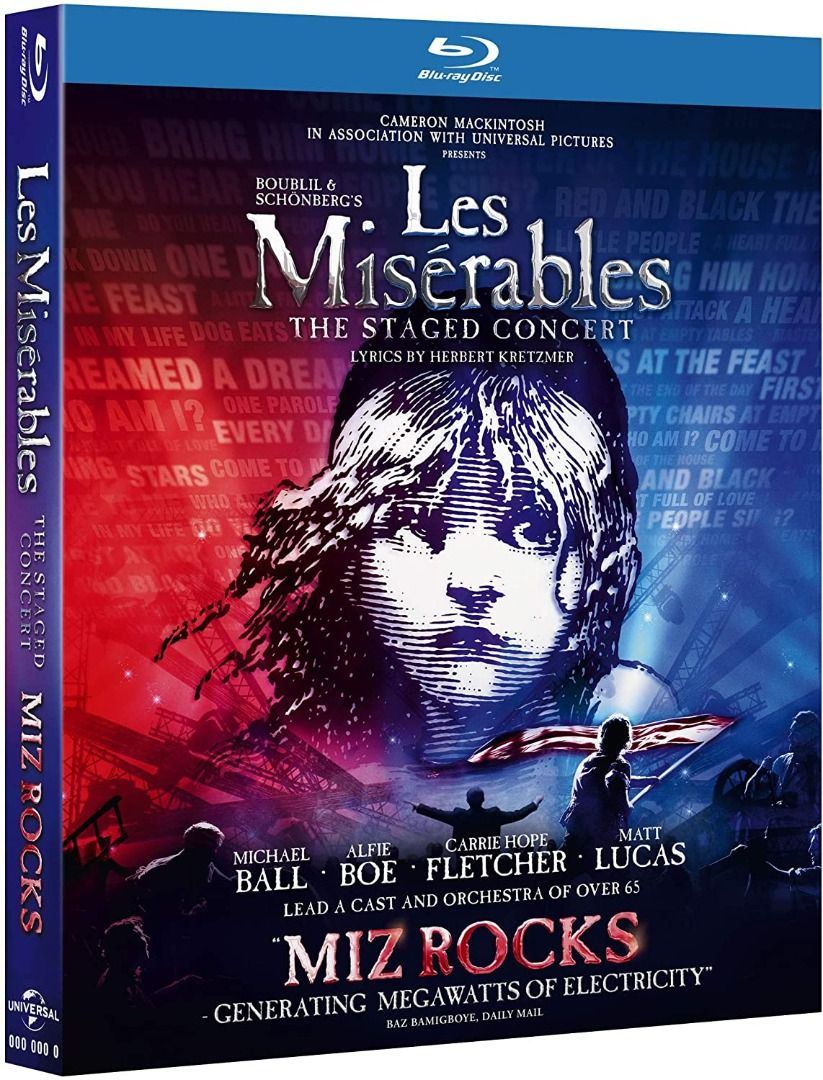 Les Miserables The Staged Concert Blu-Ray